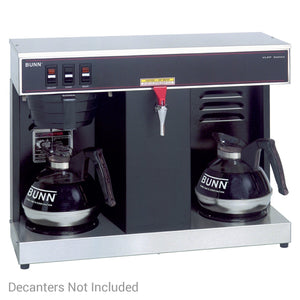Bunn VLPF Automatic 12-Cup Coffee Brewer - 2 Warmers with Faucet | 07400.0005 - Coffee Wholesale USA