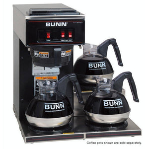 Bunn VP17-3 Pourover Coffee Brewer - Low Profile - Black - Coffee Wholesale USA