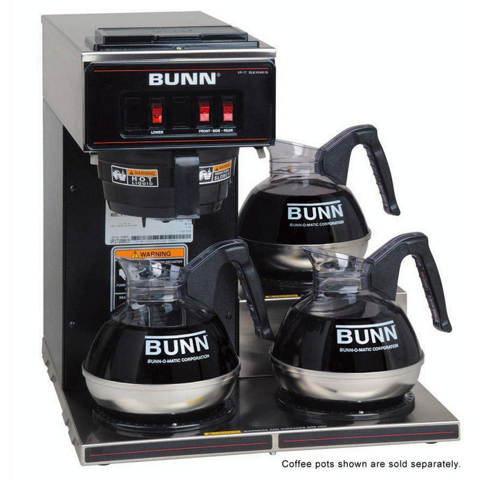 Bunn VP17-3 Pourover Coffee Brewer - Low Profile - Black