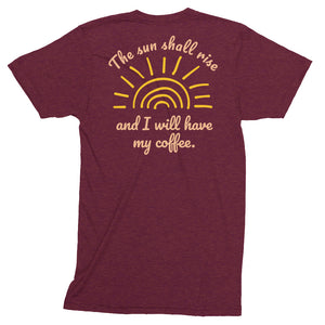 The Sun Shall Rise - Unisex Tri-Blend Track Shirt