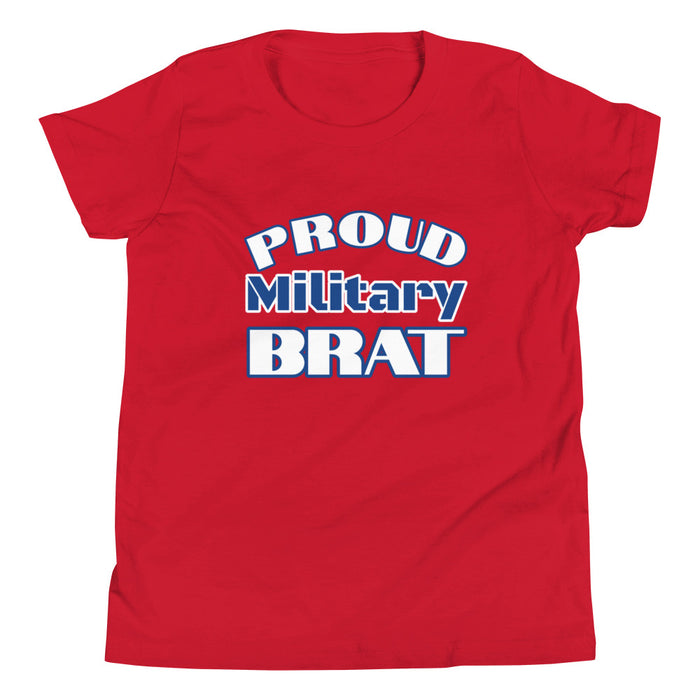 Proud Military Brat Youth Short Sleeve T-Shirt