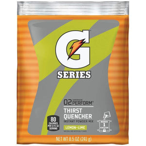 Gatorade Instant Powder Mix - Lemon Lime - 8.5oz Package (1 Gallon)