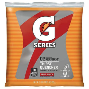 Gatorade Instant Powder Mix - Fruit Punch - 21oz Package (2.5 Gallon)