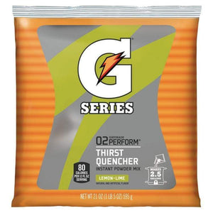 Gatorade Instant Powder Mix - Lemon Lime - 21oz Package (2.5 Gallon)