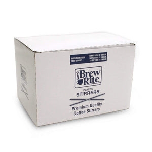 Plastic Stirrer Straws - 5 Inch Stir sticks by Brew-Rite