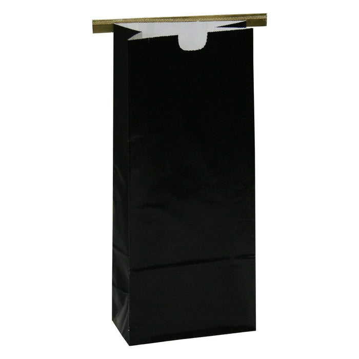 One Pound Coffee Bags with Tin Ties - BLACK