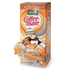 Coffee-mate Liquid Creamer Tubs - Vanilla Caramel - 50ct Box