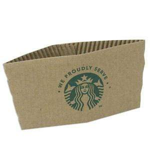 Starbucks Cup Sleeves (Corrugated Wraps) - Box of 1,380