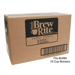 Brew-Rite Coffee Filters (Bunn-Style) - Home - 8 to 10 Cup - 1,000 Count - Coffee Wholesale USA