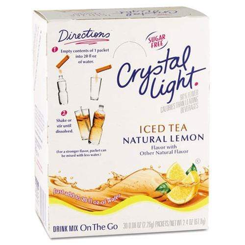 Crystal Light Drink Mix - Iced Tea (with Lemon) - On The Go Sticks - 30ct