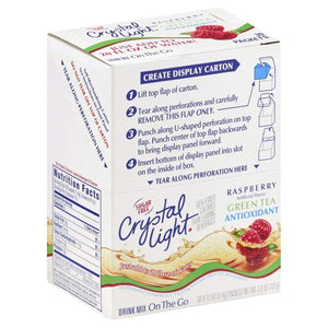 Crystal Light Drink Mix - Raspberry Green Tea - On The Go Sticks - 30 ct