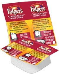 Folgers Classic Roast Vackets -  0.9 ounce Vackets - 42 count Cinch Bag - 168 Vackets