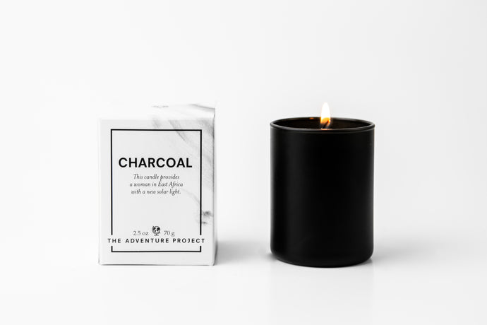 Charcoal Votive Candle
