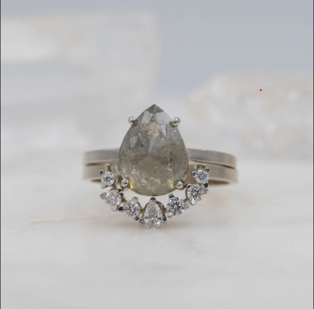 What is a Salt and Pepper Diamond? (and Why They Make Beautiful Engagement Rings)