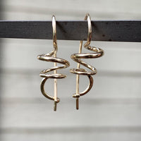 spiral gold earrings