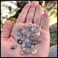 our jewelry materials conflict-free diamonds, handful of diamonds