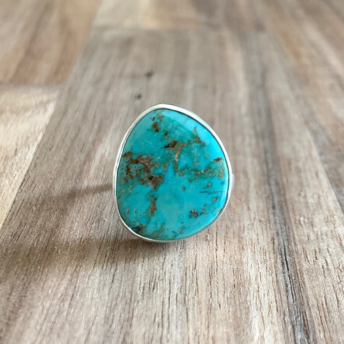 Abstract Turquoise Sterling Silver Ring