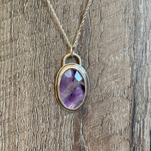 Load image into Gallery viewer, Chevron Amethyst Sterling Silver Pendant | Michelle Kobernik