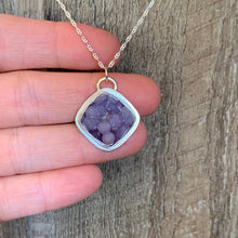 Load image into Gallery viewer, Diamond Shape Grape Agate Sterling Silver Pendant | Michelle Kobernik