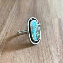 Load image into Gallery viewer, NUMBER 8 MINE OVAL STERLING SILVER RING