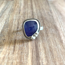 Load image into Gallery viewer, ABSTRACT-SHAPED TANZANITE STERLING SILVER RING