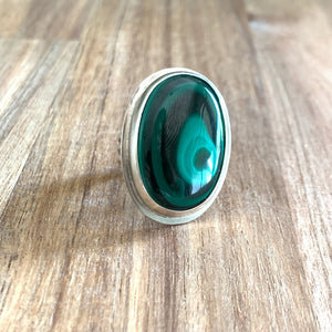 MALACHITE STERLING SILVER RING | Michelle Kobernik