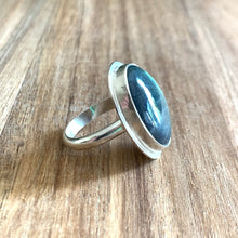 Load image into Gallery viewer, OVAL LABRADORITE STERLING SILVER RING | Michelle Kobernik