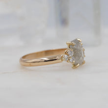 Load image into Gallery viewer, 2 Carat Rectangle Diamond Engagement Ring, set in 14K Yellow Gold | Michelle Kobernik