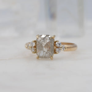 2 Carat Rectangle Diamond Engagement Ring, set in 14K Yellow Gold | Michelle Kobernik