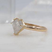 Load image into Gallery viewer, 2.4 Carat Shield Diamond Engagement/ Power Ring set in 14K Yellow Gold | Michelle Kobernik
