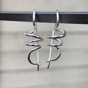 Sterling Silver Spiral Earrings | Michelle Kobernik