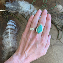 Load image into Gallery viewer, Teardrop Turquoise Sterling Silver Ring | Michelle Kobernik