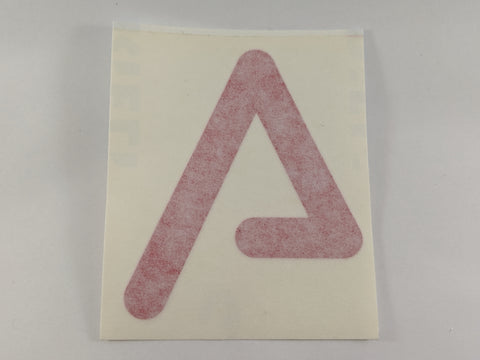 Agency Arms 'A' Logo Sticker Red