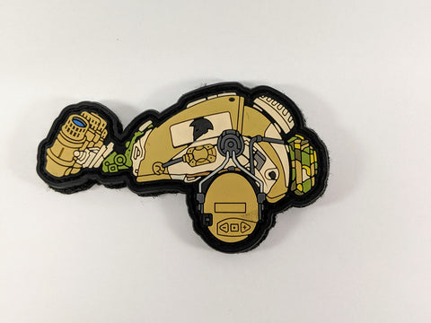 Griffon Industries 2018 Limited Edition Helmet PVC Patch /TAN - DEVILSIX