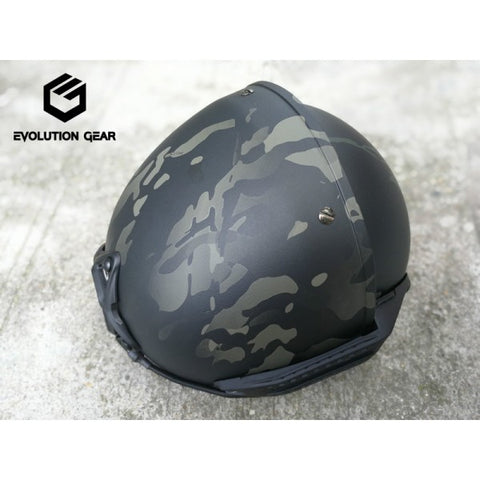 【お取寄せ】EvolutiongGear AF helmet Color:Multicam Black - DEVILSIX