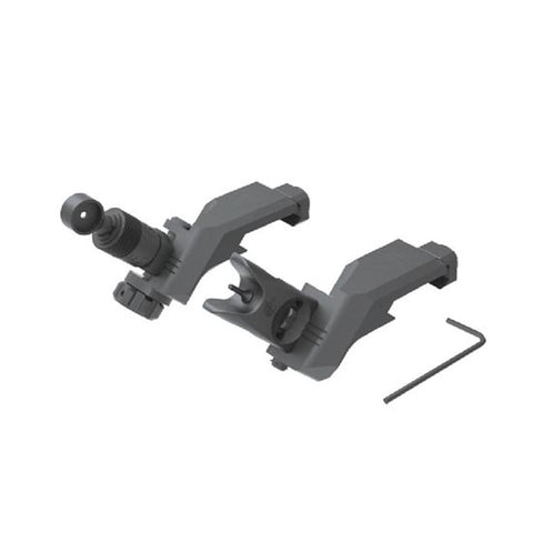45 DEGREE OFFSET FOLDING SIGHT SET, CLAMP MOUNT - 600 METER MICRO REAR, MICRO FRONT - DEVILSIX