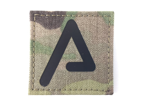 Agency Arms 'A' Patch  Color: Black/Multicam