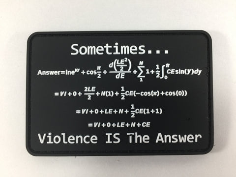 RE Factor Tactical Violence is the Answer PVC Patch - DEVILSIX