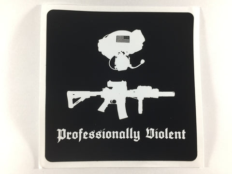 RE Factor Tactical Professionally Violent Sticker - DEVILSIX