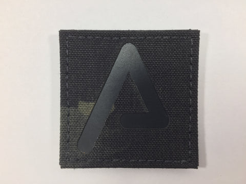 Agency Arms 'A' Patch Color: Black/Multicam Black