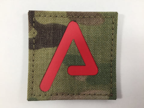 Agency Arms 'A' Patch  Color: Red/Multicam