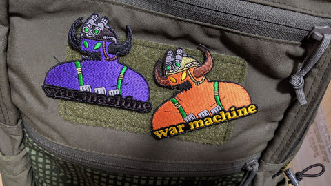 Marauder Thread Works - WAR MACHINE PATCH PAIR - DEVILSIX
