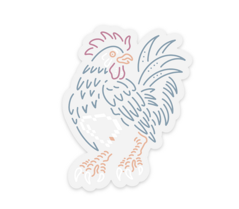 CIRCA KRAFT - HEARTLESS ROOSTER STICKER - DEVILSIX