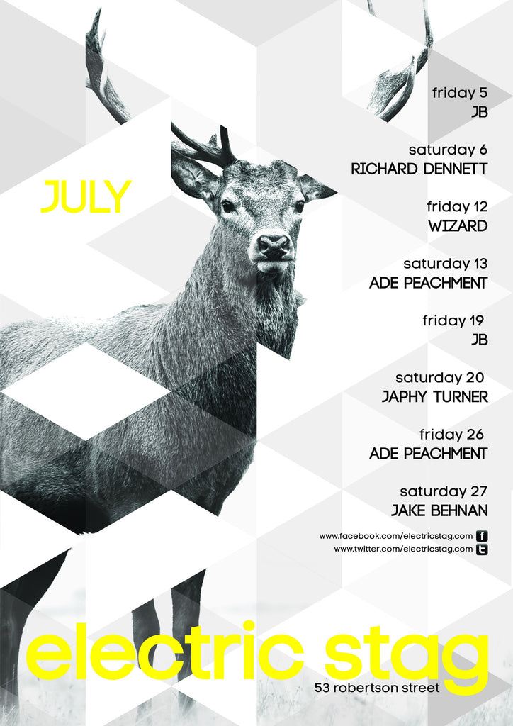 Electric Stag July Poster