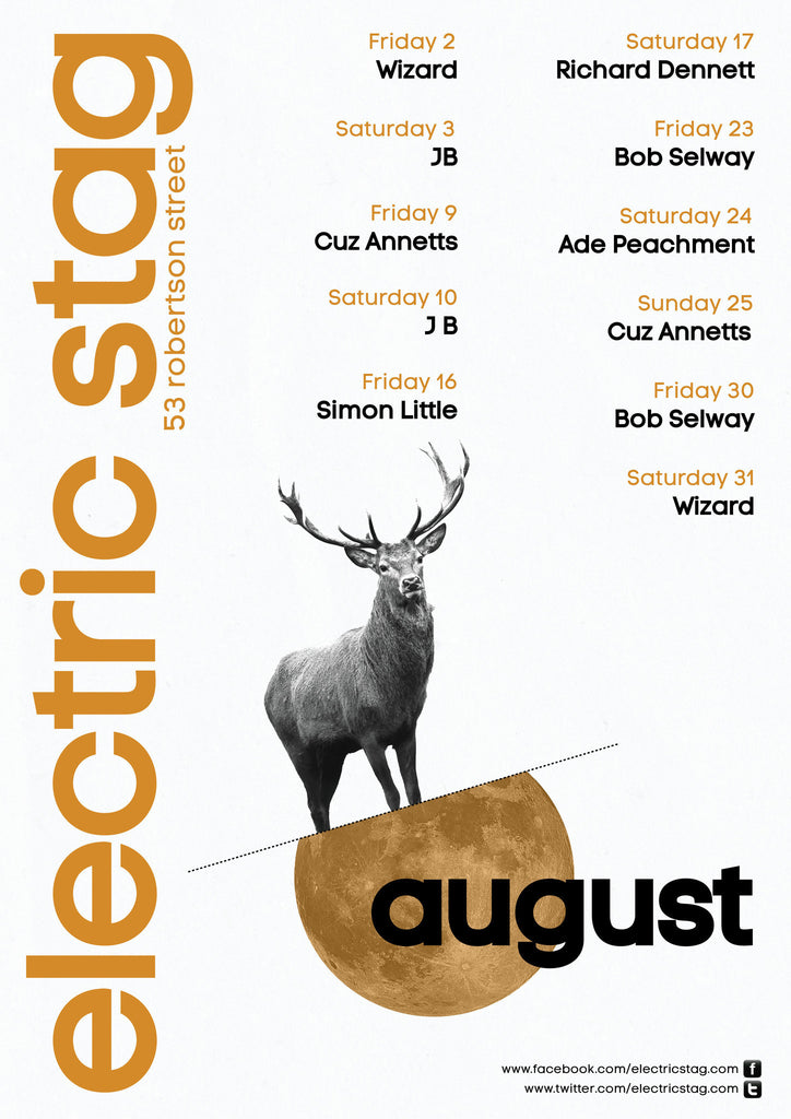 Electric Stag August Poster
