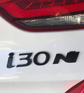 Tailgate Hyundai Logo for I30N Custom Painted in Black - NSport Ltd Store