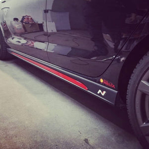 Hyundai i30N  Red Sill Inserts Approved By Hyundai UK (1 set / 2 items) - NSport Ltd Store