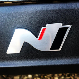 I30 N Emblem Badges For Sill Inlay - Hyundai UK Approved (2x Metal) - NSport Ltd Store