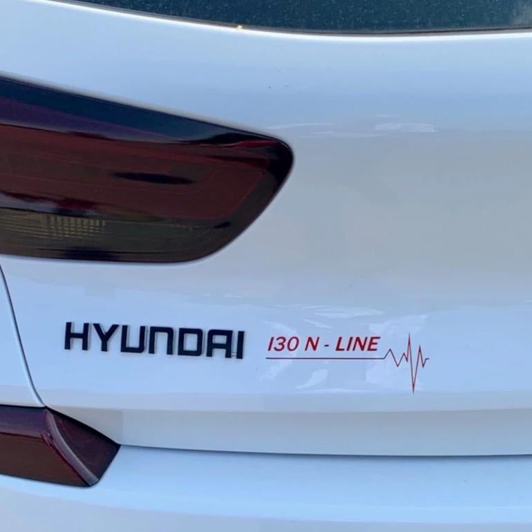 Hyundai I30 N Line Stickers by N Sport Ltd (Pair) - NSport Ltd Store