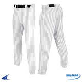 Pinstripped T-Ball Pants - White